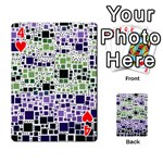 Block On Block, Purple Playing Cards 54 Designs  Front - Heart4