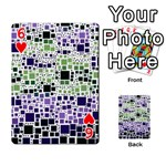 Block On Block, Purple Playing Cards 54 Designs  Front - Heart6