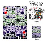 Block On Block, Purple Playing Cards 54 Designs  Front - Heart7