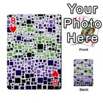 Block On Block, Purple Playing Cards 54 Designs  Front - Heart8