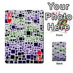 Block On Block, Purple Playing Cards 54 Designs  Front - Heart10