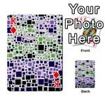 Block On Block, Purple Playing Cards 54 Designs  Front - DiamondK