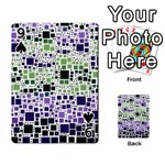 Block On Block, Purple Playing Cards 54 Designs  Front - Spade9
