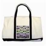 Block On Block, Purple Two Tone Tote Bag