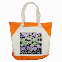 Block On Block, Purple Accent Tote Bag by MoreColorsinLife