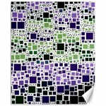 Block On Block, Purple Canvas 16  x 20   20 x16 Canvas - 1