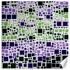 Block On Block, Purple Canvas 20  X 20   by MoreColorsinLife