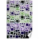 Block On Block, Purple Canvas 24  x 36