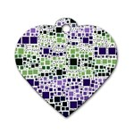 Block On Block, Purple Dog Tag Heart (Two Sides) Back
