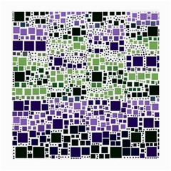 Block On Block, Purple Medium Glasses Cloth by MoreColorsinLife