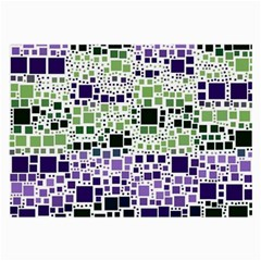 Block On Block, Purple Large Glasses Cloth by MoreColorsinLife