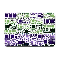 Block On Block, Purple Small Doormat  by MoreColorsinLife