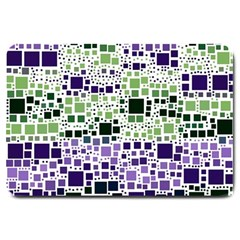 Block On Block, Purple Large Doormat  by MoreColorsinLife