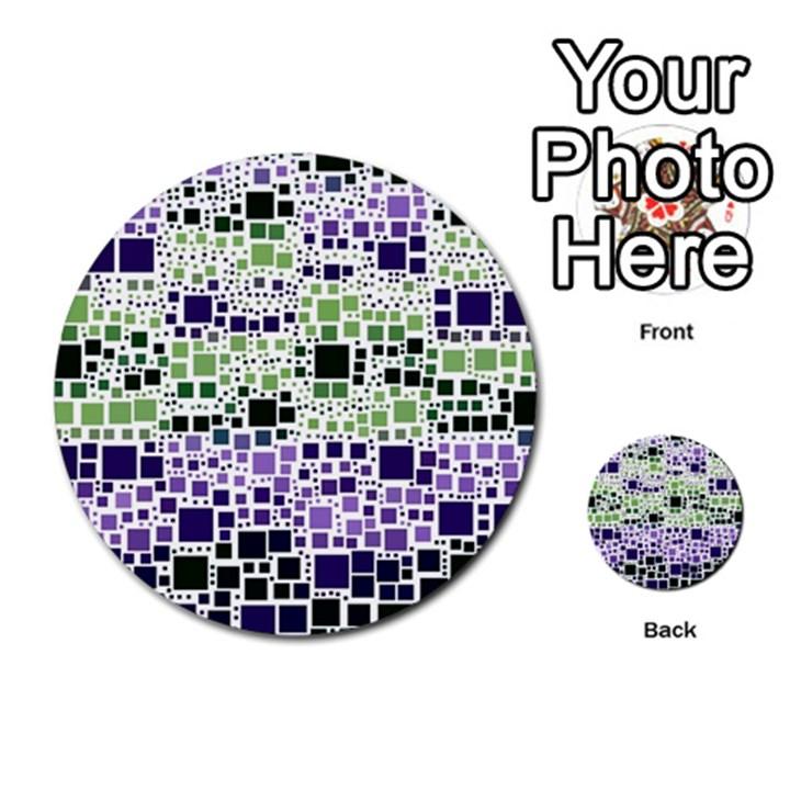 Block On Block, Purple Multi-purpose Cards (Round)