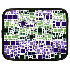 Block On Block, Purple Netbook Case (large) by MoreColorsinLife