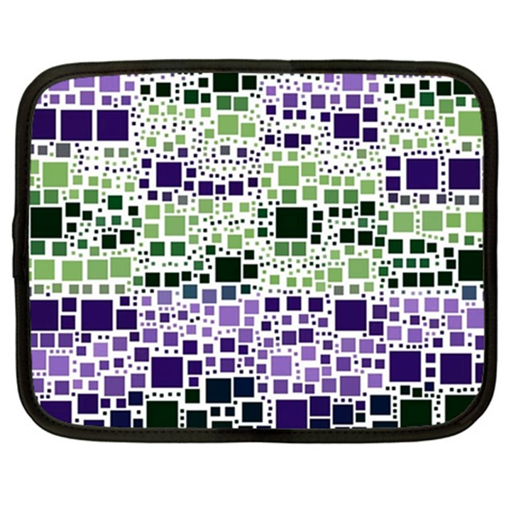 Block On Block, Purple Netbook Case (Large)