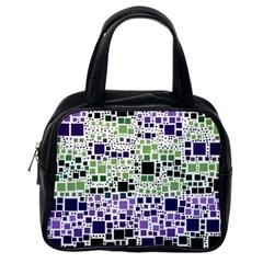 Block On Block, Purple Classic Handbags (one Side)