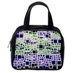 Block On Block, Purple Classic Handbags (One Side) Front