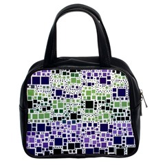Block On Block, Purple Classic Handbags (2 Sides) by MoreColorsinLife