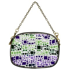 Block On Block, Purple Chain Purses (one Side)  by MoreColorsinLife