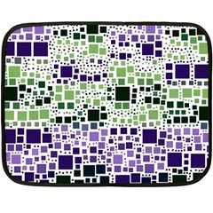 Block On Block, Purple Double Sided Fleece Blanket (mini)  by MoreColorsinLife