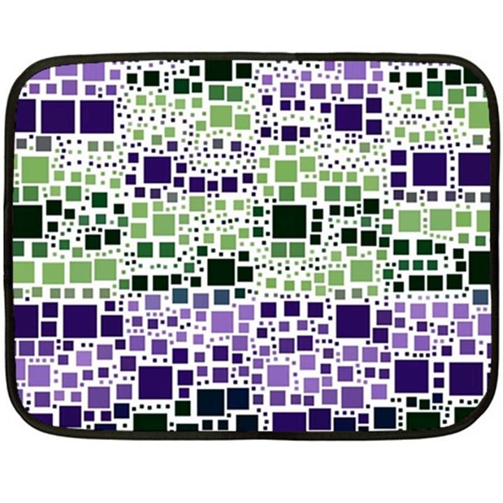 Block On Block, Purple Double Sided Fleece Blanket (Mini)
