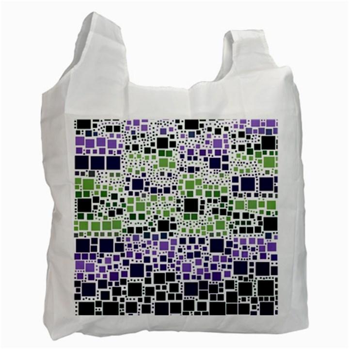 Block On Block, Purple Recycle Bag (One Side)