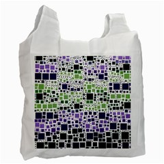 Block On Block, Purple Recycle Bag (two Side)  by MoreColorsinLife