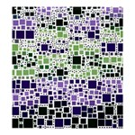 Block On Block, Purple Shower Curtain 66  x 72  (Large)  58.75 x64.8 Curtain