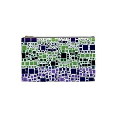 Block On Block, Purple Cosmetic Bag (small)  by MoreColorsinLife