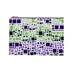 Block On Block, Purple Cosmetic Bag (large)  by MoreColorsinLife