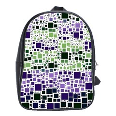 Block On Block, Purple School Bags(large)  by MoreColorsinLife