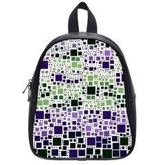 Block On Block, Purple School Bags (small)  by MoreColorsinLife