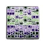 Block On Block, Purple Memory Card Reader (Square) Front