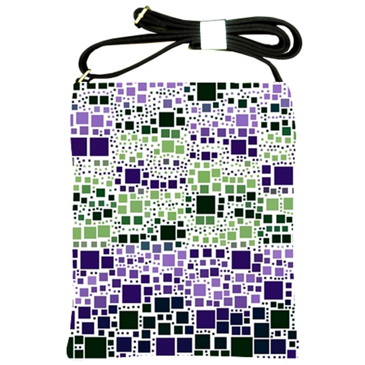 Block On Block, Purple Shoulder Sling Bags