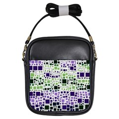 Block On Block, Purple Girls Sling Bags by MoreColorsinLife