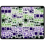 Block On Block, Purple Fleece Blanket (Large)  80 x60 Blanket Front