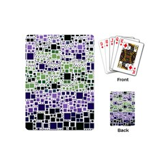 Block On Block, Purple Playing Cards (mini)  by MoreColorsinLife