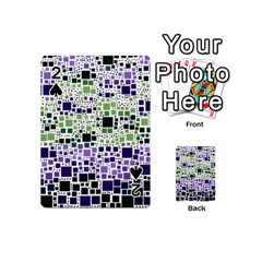 Block On Block, Purple Playing Cards 54 (mini)  by MoreColorsinLife