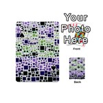 Block On Block, Purple Playing Cards 54 (Mini)  Front - Spade3