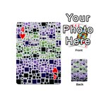 Block On Block, Purple Playing Cards 54 (Mini)  Front - Heart4
