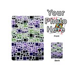 Block On Block, Purple Playing Cards 54 (Mini)  Front - Club8