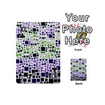 Block On Block, Purple Playing Cards 54 (Mini)  Front - Club10