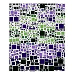 Block On Block, Purple Shower Curtain 60  x 72  (Medium)  54.25 x65.71 Curtain