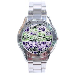 Block On Block, Purple Stainless Steel Analogue Watch by MoreColorsinLife