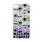 Block On Block, Purple Apple iPhone 4 Case (White)