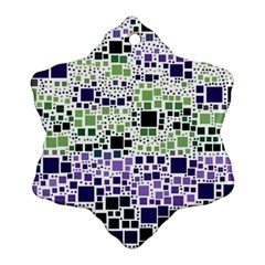 Block On Block, Purple Ornament (snowflake)  by MoreColorsinLife