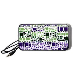Block On Block, Purple Portable Speaker (black)  by MoreColorsinLife