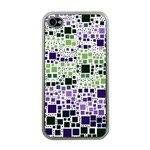 Block On Block, Purple Apple iPhone 4 Case (Clear) Front