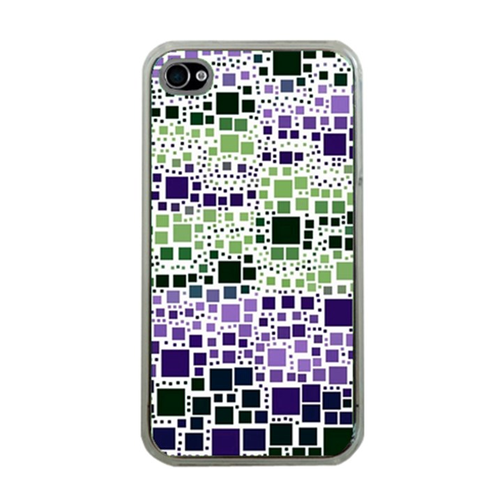 Block On Block, Purple Apple iPhone 4 Case (Clear)